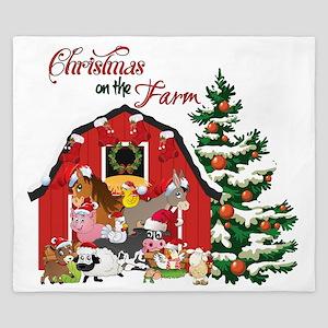 Christmas on the Farm King Duvet