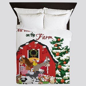Christmas on the Farm Queen Duvet