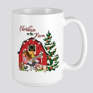 Christmas on the Farm Large Mug