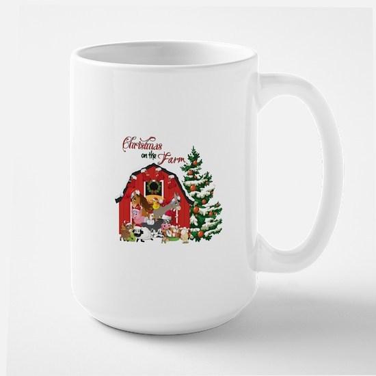 Christmas on the Farm Large Mug