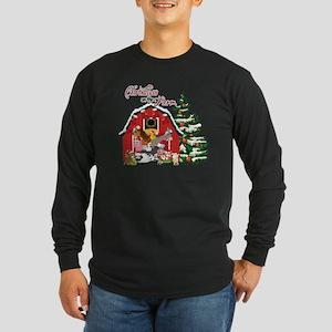 Christmas on the Farm Long Sleeve Dark T-Shirt