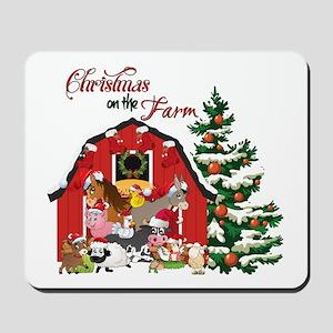 Christmas on the Farm Mousepad