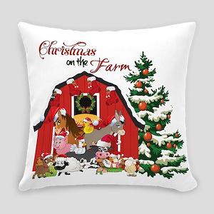 Christmas on the Farm Everyday Pillow