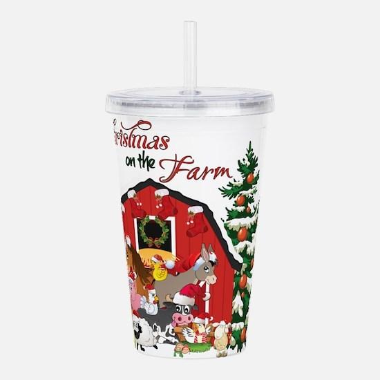 Christmas on the Farm Acrylic Double-wall Tumbler