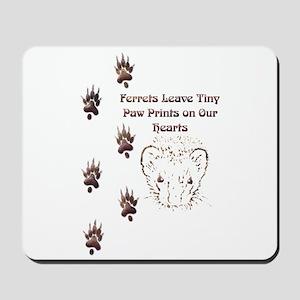 Tiny Paw Prints w/ Face(Stone) Mousepad