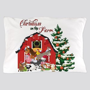 Christmas on the Farm Pillow Case