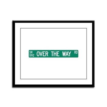 Over The Way Road, Saluda (NC) Framed Panel Print