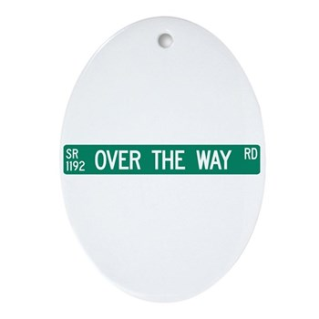 Over The Way Road, Saluda (NC) Oval Ornament