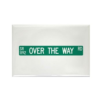 Over The Way Road, Saluda (NC) Rectangle Magnet