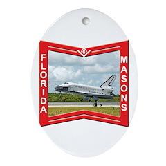 Florida Masons Oval Ornament