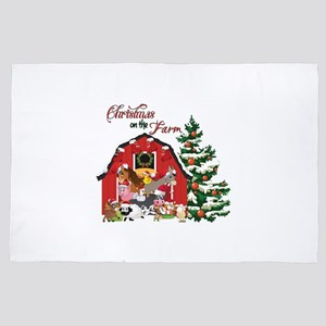 Christmas on the Farm 4' x 6' Rug