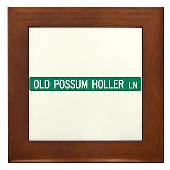 Old Possum Holler Road, Hendersonville (NC) Framed
