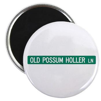 Old Possum Holler Road, Hendersonville (NC) Magnet