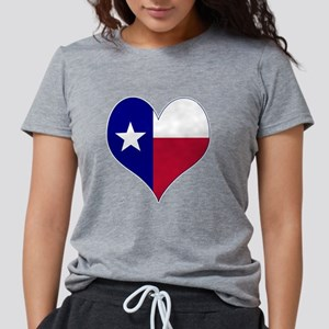 I Love Texas Flag Hear T-Shirt