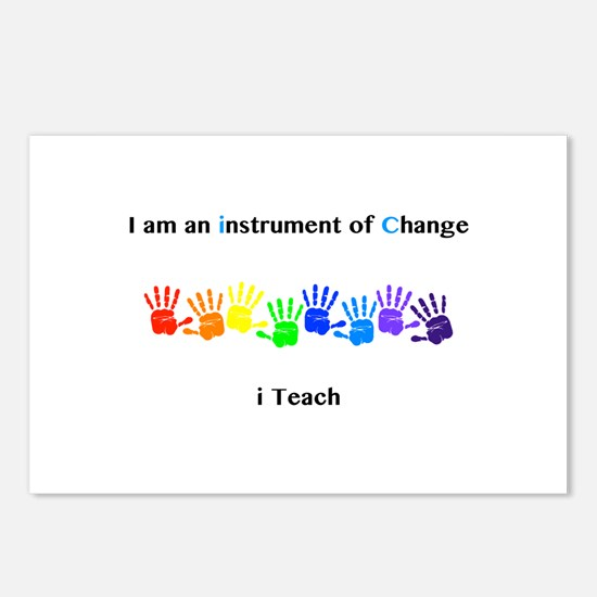 Instruments of Change I Teach Postcards (Package o