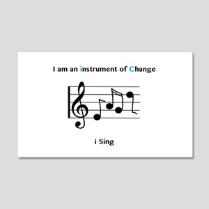 Instruments of Change I Sing Wall Decal