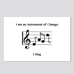 Instruments of Change I Sing Postcards (Package of