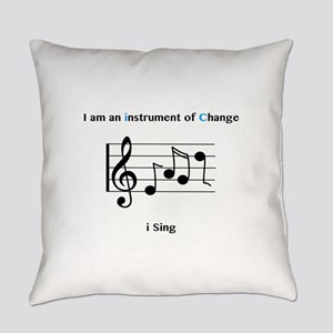 Instruments of Change I Sing Everyday Pillow