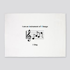Instruments of Change I Sing 5'x7'Area Rug