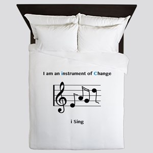 Instruments of Change I Sing Queen Duvet