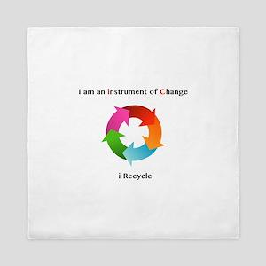 instruments of change i recycle Queen Duvet