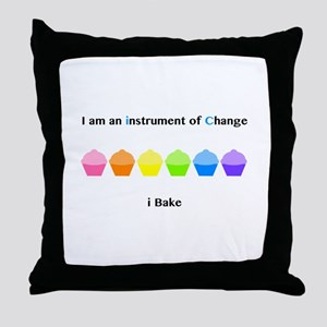Instrument of Change I Bake Throw Pillow