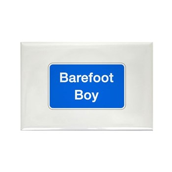 Barefoot Boy, Columbia (MD) Rectangle Magnet (10 p