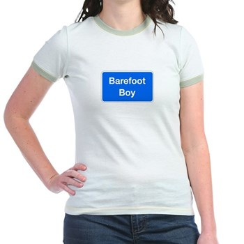 Barefoot Boy, Columbia (MD) Jr. Ringer T-Shirt