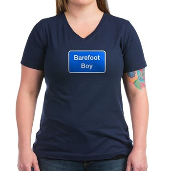 Barefoot Boy, Columbia (MD) Women's V-Neck Dark T-