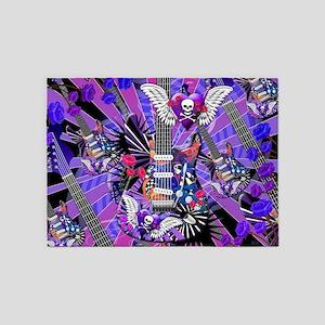 Music Guitar Art Musician Art by Ju 5'x7'Area Rug