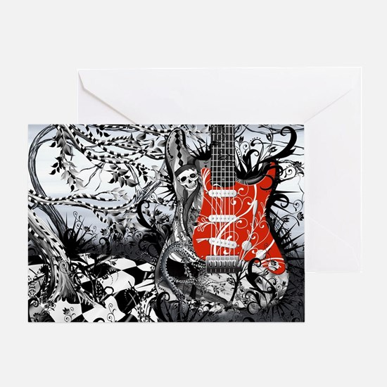 Guitar Rock Band Music Art by Juleez Greeting Card