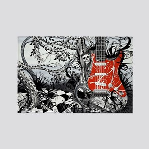 Guitar Rock Band Music Art by Jul Rectangle Magnet