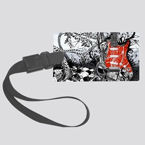 Guitar Rock Band Music Art by Ju Large Luggage Tag