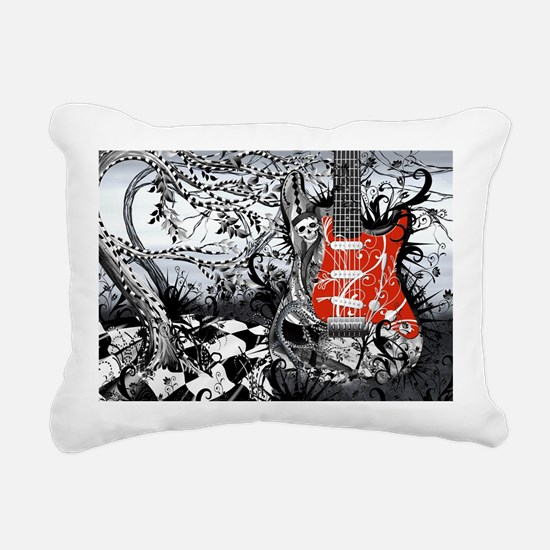Guitar Rock Band Music A Rectangular Canvas Pillow