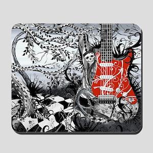 Guitar Rock Band Music Art by Juleez Mousepad