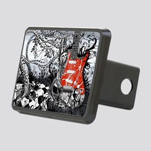 Guitar Rock Band Music Art Rectangular Hitch Cover