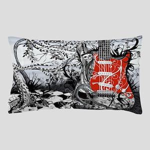 Guitar Rock Band Music Art by Juleez Pillow Case