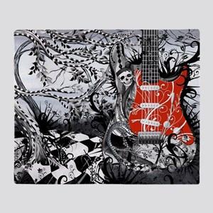 Guitar Rock Band Music Art by Juleez Throw Blanket