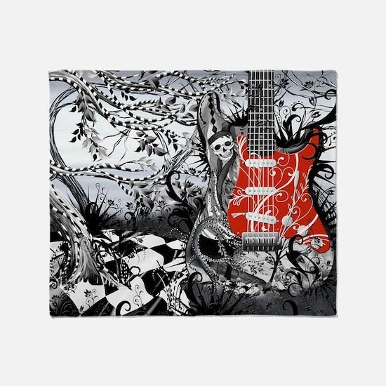 Guitar Rock Band Music Art by Juleez Throw Blanket