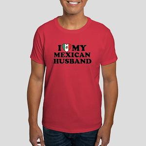 I Love My Mexican Husband Dark T-Shirt