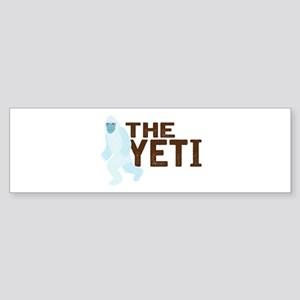 The Yeti Bumper Sticker
