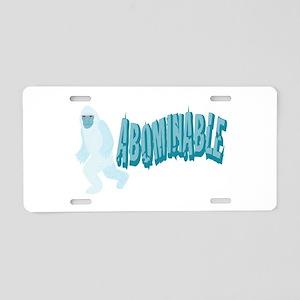 Abominable Yeti Aluminum License Plate