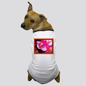Bee-Pollinating-Pink-Flower Dog T-Shirt