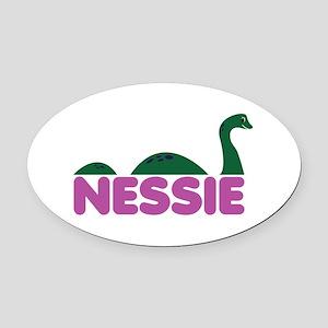 Nessie Monster Oval Car Magnet