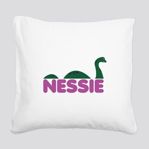 Nessie Monster Square Canvas Pillow
