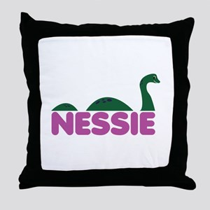Nessie Monster Throw Pillow