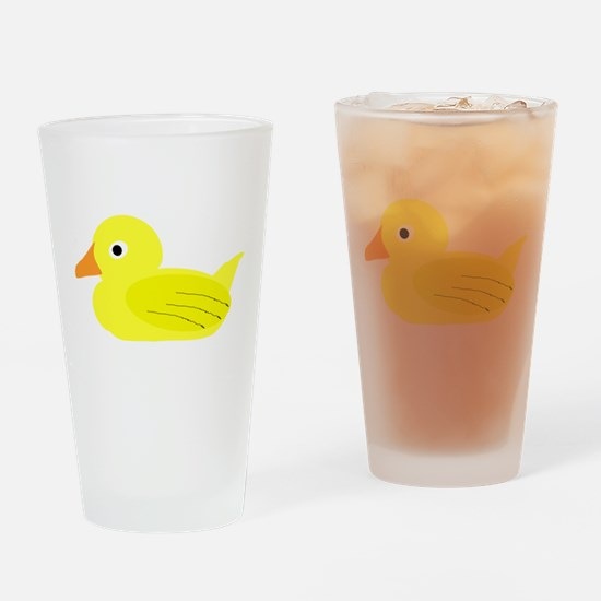 Yellow Duck Drinking Glass
