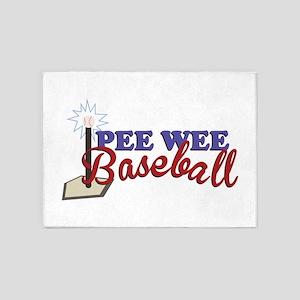 Pee Wee Baseball 5'x7'Area Rug