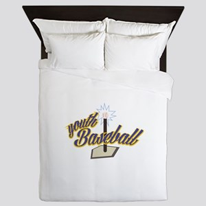 Youth Baseball Queen Duvet