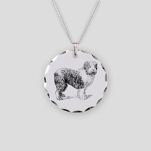 Sheepdog Necklace Circle Charm